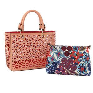 Designer Inspired Coral Laser Cut Tote Bag Set