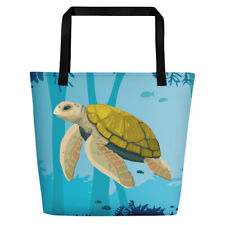 Sea Turtle Beach Bag with pocket