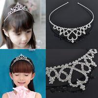 Girl Princess Crown Rhinestone Headband Tiara Bridal Wedding Party Hair Jewelry