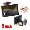 5'' Inch HD 800*480 TFT-LCD Car Rear View Reverse Monitor 2 CH AV-In For Camera