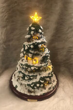 "2004 Bradford Exchange Thomas Kinkade Village Christmas Lighted Tree 15"" T."