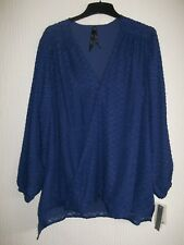 Ladies Blue Designer Top By Melissa McCarthy Top Size Size 20 New !