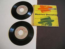 "MAURICE CHEVALIER Le Boulevardier 7 song double EP 45 7"" Gatefold vinyl"