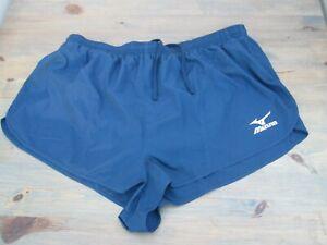 "Navy blue 2"" elite sprinter-cut running shorts by Mizuno , XL, new UK post free"