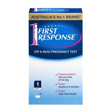 * FIRST RESPONSE DIP AND READ PREGNANCY TEST 1 PACK CONVENIENT FAST AND EASY