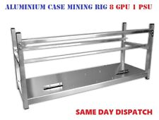 Aluminium Cryptocurrency Open Air Mining Rig Frame Miner Case For 8 GPU 2 PSU