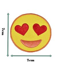 Iron On Smiley Face Patch Yellow Happy Badge Embroidered Patches Applique 143