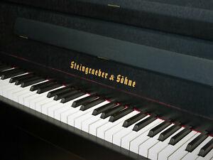 Klavier Steingraeber & Söhne, ca. 1983, schwarz, Miete/Mietkauf möglich