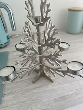 Silver T Light Candle Tree