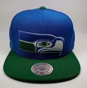 Seattle Seahawks Mitchell & Ness Vintage XL Logo Classic Snapback Hat Cap NFL