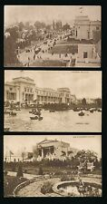 GB 1924 WEMBLEY EXHIBITION SEPIA CARDS 3 DIFFERENT HEELWAY PRESS PUBLISHERS