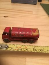 Lesney Red ERF Petrol Tanker # 11 With Grey Plastic Wheels - ESSO
