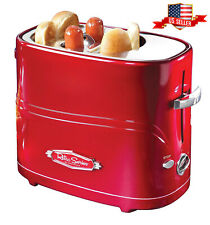 Hot Dog Toaster Electric Cooker Machine Pop - Up Retro Series Bun Timer Red New