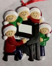 Personalized Around the Piano Family 5 Christmas Tree Ornament Holiday Gift