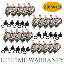 20x Heavy Duty 2pin 12v Onoff Rocker Toggle Onoff Switch Waterproof Boot