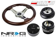 "NRG 330mm BR Wood CH S Steering Wheel 1.5"" DP w/100H Hub Gen2 Release CF Lock LB"