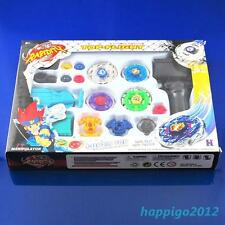 Fusion Top Metal Master Rapidity Fight Rare Beyblade 4D Launcher Grip Set