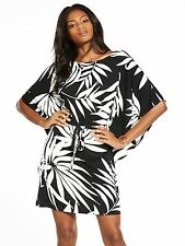 V by Very Cape Sleeve Dress Monochrome Size 14 rrp £28.00 DH079 HH 26