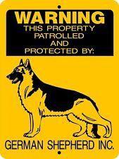 """German Shepherd Dog Sign,Guard Dog Sign,9""""x12"""" Aluminum Sign,Security,727"""
