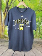 Majestic Mens Pirates Print Gray Baseball T-Shirt XL