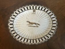 Antique English Creamware Pearlware Basketweave Plate Turner Crown Crest 19th c.
