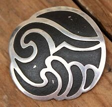 Vintage Sterling Silver Modernist Pendant Brooch Pin Mexican Jewellery 925 Taxco