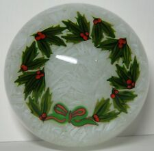 RARE Perthshire Glass Christmas 1983 Holly Wreath Paperweight Ltd Ed. Boxed & Ct