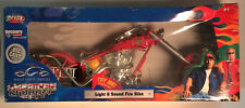American Chopper LIGHT & SOUND FIRE BIKE Die Cast Motorcycle - Rare Collectible