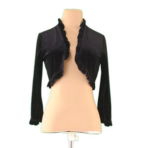 FOXEY Cardigan Black Woman Authentic Used L1939