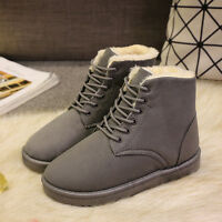 2017 New Fashion Womens Ankle Boots Fur Winter Warm Thicken Shoes Snow Boots