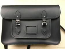 Cambridge Satchel Company 15 Inch Laptop Crossbody Bag Navy Leather England