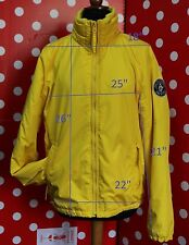 ABERCROMBIE & FITCH size XL jacket lightweight YELLOW OUTERWEAR padded men