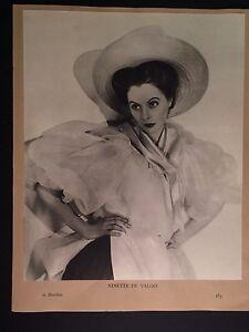 Ninette De Valois ballet ballerina photo gravure by Gordon Anthony 1937 England