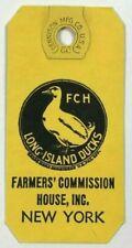 Vintage Long Island Ducks Swift Stream Farms New York Paper Tag FCH Recipe NY