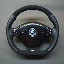 FLAT BOTTOM STEERING WHEEL BMW E36 E38 E39 M POWER  ! PERFORATED AND ALCANTARA