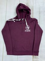 Victorias Secret Pink Womens Long Sleeve Purple Pullover Hoodie Size Small