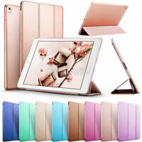 "For iPad 5th Gen 9.7"" 2017 A1822 Magnetic Slim Stand PU Leather Smart Cover Case"