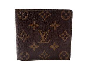 Authentic LOUIS VUITTON Monogram Wallet Bi-fold M61669 Men's Vintage