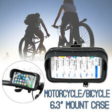 Waterproof Motorcycle Bicycle Cell Phone GPS Holder Bike Handlebar Mount Case