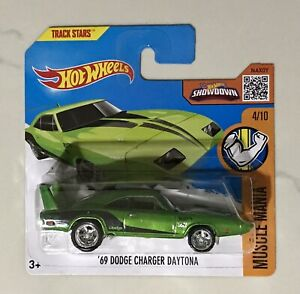 HOT WHEELS 69 DODGE CHARGER DAYTONA SUPER TREASURE HUNT SHORT CARD