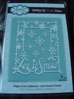 CREATIVE EXPRESSIONS Paper Cuts Collection Die - Let It Snow - 7 Dies