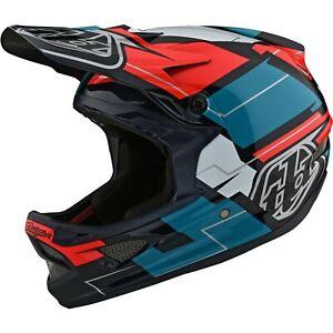 Troy Lee Designs D3 Helmet Tld Bmx Mtb Downhill Fiberlite Vertigo Blue NEW 2021