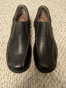 Clark's Men's Shoes - Pickett Black Oily Leather - Size 11.5