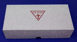 NEW Guess Red & Silver Glitter Empty Gift Box for Wallet, Clutch Bag