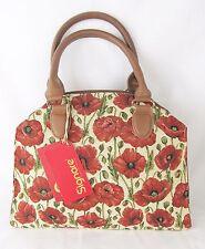 Poppy Flower Design & Stylish Tapestry Handbag or Shoulder Bag Signare