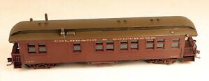 SOHO Brass #1291 Parlor Passenger Car C&S/RGS 1/87 HOn3 Scale Narrow Gauge