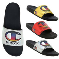 Champion Unisex 1919 Logo IPO Metallic Slide Sandals