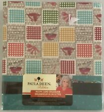 Paula Deen Kitchen Recipe Card Organizer Binder Holds 40 Recipes