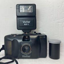 Vintage Vivitar Ez 35 35mm Film Point And Shoot + Flash Vintage Camera W/ Film