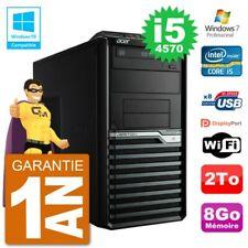 PC Acer Veriton M4630G MT i5-4570 RAM 8Go Disque Dur 2To Graveur DVD Wifi W7